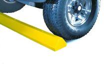 "Lotblocks CS6S-SY Plastic Standard Car Parking Stop with Hardware, Yellow, 72"" L"