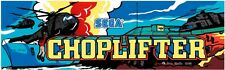 Sega Choplifter Arcade Marquee For Reproduction Header/Backlit Sign