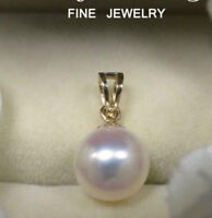 Huge Aaa 13-12 Mm South Sea  White Natural Pearl Pendant 14k Gold  Clasp