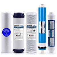 Reverse Osmosis Replacement Filter Set RO Cartridges 5 pcs w/ 75 GPD Membrane