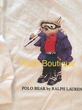 POLO BEAR RALPH LAUREN T SHIRT BOYS KIDS BIG PONY RLX SKI BEAR SZ 2T