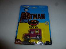 NEW ON CARD BATMAN JOKER VAN ERTL VINTAGE 1989 DC COMICS 1532 NOC DIECAST