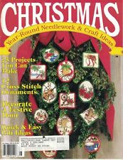 Christmas Year Round Needlework Magazine Jul Aug 1990 Ornaments & Door Decor