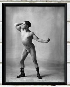 Antique Photo Male Athlete Posing Male Form Vintage Photo Print 8x10