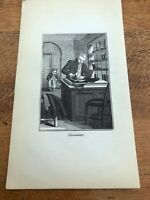 1835 woodcut print ( english trades )  shoemaker !