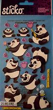 NEW 21 pc ROLLY POLLY PANDA Panda Bear Bamboo Pawprints Pandas STICKO Stickers