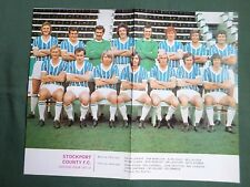 STOCKPORT COUNTY - FOOTBALL TEAM COLOUR PICTURE  71/72 - CLIPPING/CUTTING