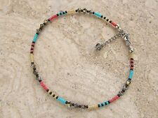 Extension Anklet made with Swarovski Crystals and Multi Colour Seed Beads