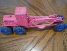 Vintage Auburn 350 Red Toy Rubber Construction Road Grader