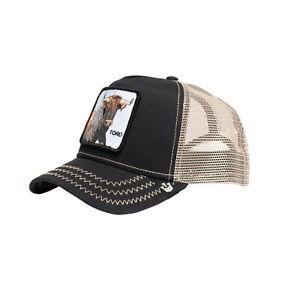 Goorin Bros Snapback Mesh Cap Animal Farm Trucker Hat (Black - That's Bull)