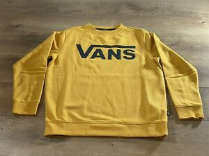VANS Classic Crew Pullover Boys Golden Glow SZ M ( VN0A36MZLSV ) NWT!!!