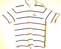 Mens Nike Golf Dri Fit Standard Black/Purple Striped Athletic Golf Polo Shirt LG