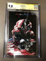 Venom #27 Clayton Crain Virgin Variant Black Cover C CGC 9.8 Infinity Signed 1st