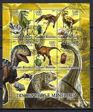 Animaux Préhistoriques Guinée Bissau (43) série complète 6 timbres oblitérés
