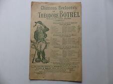 Partition Chansons Bretonnes de THEODORE BOTREL