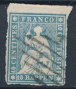 [54757] Switzerland Very good Used Very Fine big margins classical stamp