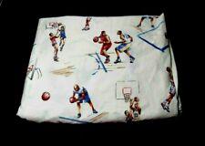 Pottery Barn Kids Basket Ball Graphics Twin Flat Sheet 100% Cotton