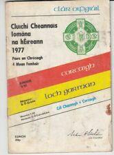 GAA 1977 All Ireland Hurling Final Cork Wexford Kilkenny