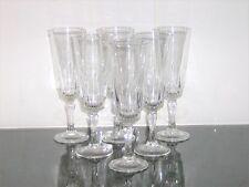 6 x Vintage 60's Champagne Bucks Fizz Glasses / Flutes Luminarc - Victoria