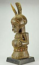 Rare Fétiche SONGYE 2 corne statue Congo African Art Tribal Africain 1317