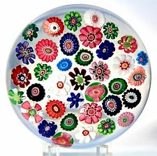 LARGE Gorgeous CLICHY Millefiori with Double CLICHY ROSES Art Glass PAPERWEIGHT