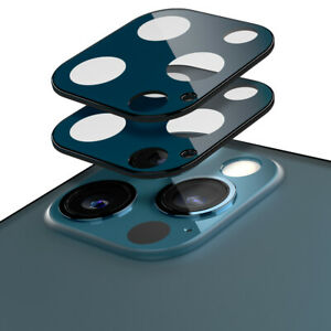 2 Pack - iPhone 12 Pro, 12 Pro Max Camera Lens Protector |Caseology| Black, Blue