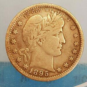 USA Barber Quarter Dollar 1895 S c6.15g (ref #10)