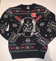 Disney Star Wars Ugly Christmas Sweater Black Darth Vader M L XL