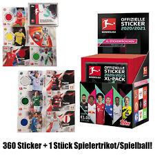 Topps 360 Bundesliga Sticker 2020/21 + Trikot Card Karte u.a. Lewandowski Kroos