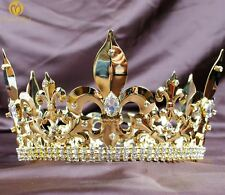 Renaissance Tiara Crown Imperial Medieval Crystal Pageant Party Costumes For Men