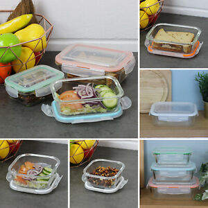 Freska Glass Food Storage Containers Lunch Box Bento With Airtight Lid BPA Free