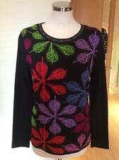 Olivier Philips Sweater Size 14 BNWT Black Red Blue Lime Purple RRP £143 Now £57