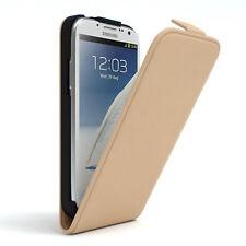 Tasche für Samsung Galaxy Note 2 Flip Case Schutz Hülle Cover Hellbraun