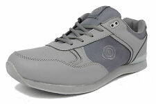 1cc379d4b8a Mens Flat Sole Lightweight Lace Up Bowls Shoes Bowling Trainers GREY Size 6 -12