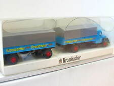 Wiking Magirus S 7500 Pritschenhängerzug Krombacher OVP (N5756)