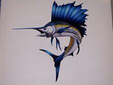 Marlin Sailfish Sea Fish sticker graphic decal window Wall golf cart go kart