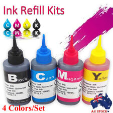4X 100ml Universal Color Ink Cartridge Refill Kit for HP & Canon Series Printers