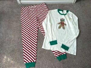 Gymboree Men's Christmas Gingerbread Dad Pajamas Size XL Brand New