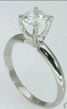 1 ct Round  Cut Solitaire Ring in 14K White Gold