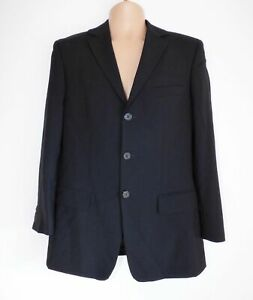 Men's HUGO BOSS Red Label Fitted Black Wool Blazer Jacket M L Pit To Pit 22in