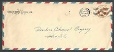 1938 Garden Island Motors Lihue Hi 6c Airmail Envelope Entire