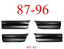 87 96 Ford 4Pc Front & Rear Lower Bed Patch Set Panel, 8' Bed Long Bed Trucks