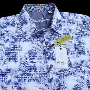 Robert Graham Lamar Floral Honeycomb Classic Fit Shirt Size XL Stretch $198