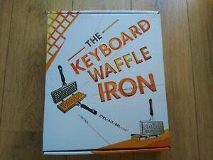 BRAND NEW THE KEYBOARD WAFFLE IRON NOVELTY WAFFLE MAKER