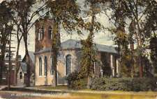 Lennoxville Quebec Canada St Georges Church Street View Antique Postcard K68771