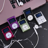 Portable Mini USB Digital MP3 Player LCD Screen Support 32GB Micro SD TF Ca LA