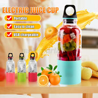 500ML Portable Juice Bottle Maker Cup Electrical USB Rechargeable Blender Travel