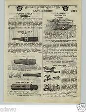1924 PAPER AD Johnson's Folding Paper Fiber Duck Decoy Illinois River Wood Mason