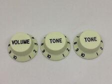 3 X Vert Menthe Strat guitare électrique Boutons Volume & Ton Pour Métrique Pots
