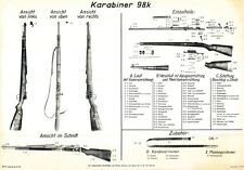 Nice POSTER Of The German Nazi MAUSER K98 WW2 Rifle LQQK & BUY NOW!